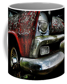 Coffee Mug featuring the photograph Red Plymouth Belvedere by Glenda Wright