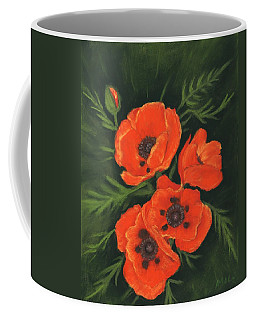 Coffee Mug featuring the painting Red Poppies by Anastasiya Malakhova