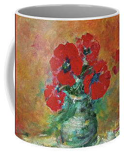 Red Poppies In A Vase Coffee Mug