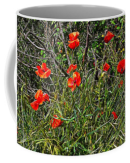 Red Poppies In The Hedgerow Coffee Mug