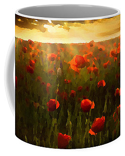 Red Poppies In The Sun Coffee Mug