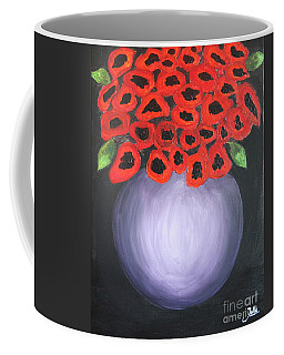 Coffee Mug featuring the painting Red Poppies  by Jolanta Anna Karolska