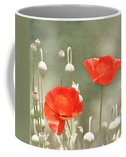 Coffee Mug featuring the photograph Red Poppies by Kim Hojnacki