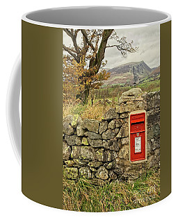 Red Postbox Down A Country Lane Coffee Mug