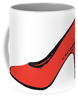 Red Pump Womans Shoe Tee Coffee Mug