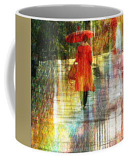 Red Rain Day Coffee Mug