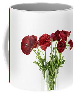 Coffee Mug featuring the photograph Red Ranunculus by Kim Hojnacki