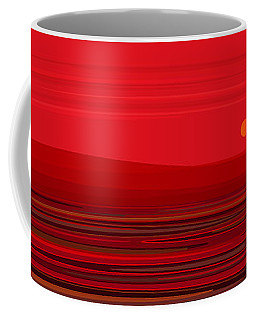Coffee Mug featuring the digital art Red Ripple II by Val Arie
