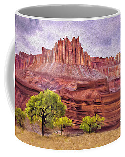 Red Rock Cougar Coffee Mug by Walter Colvin
