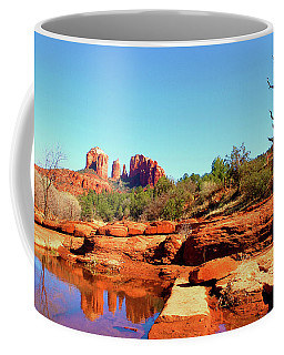 Coffee Mug featuring the photograph Red Rock Crossing by Howard Bagley