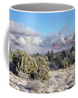 Red Rocks In The Clouds Coffee Mug