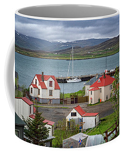 Red Roofs Of Holmavik Coffee Mug