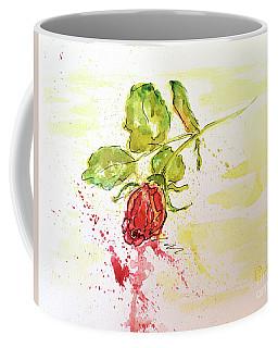 Red Rose Bud Coffee Mug