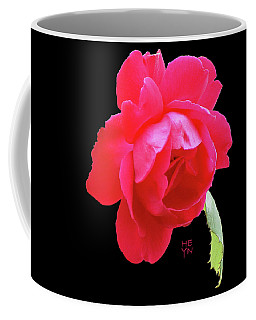 Red Rose Cutout Coffee Mug