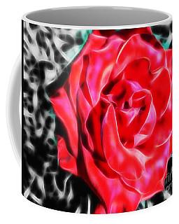 Red Rose Fractal Coffee Mug