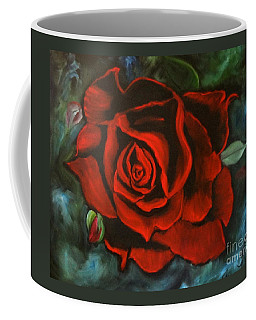 Red Rose Coffee Mug by Jenny Lee
