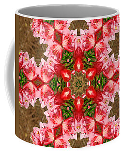 Coffee Mug featuring the photograph Red Rose Kaleidoscope by Bill Barber