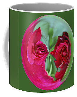 Coffee Mug featuring the photograph Red Rose Orb by Bill Barber