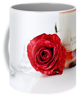 Red Rose With Champagne Coffee Mug by Serena King