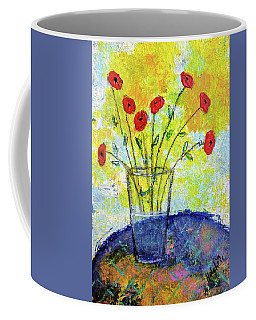 Red Roses For You Coffee Mug by Haleh Mahbod
