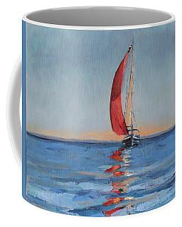 Red Sail Early Sunset Coffee Mug