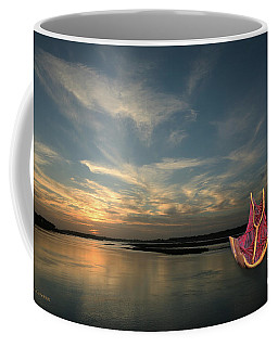 Coffee Mug featuring the photograph Red Sails In The Sunset by Carol Lynn Coronios