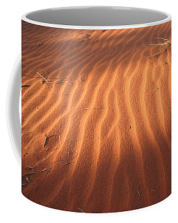 Coffee Mug featuring the photograph Red Sand Dune Ripples In Detail by Keiran Lusk