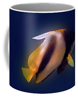 Red Sea Bannerfish On Blue Coffee Mug