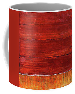 Coffee Mug featuring the painting Art Print Abstract 50 by Harry Gruenert