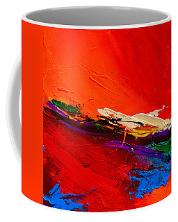 Coffee Mug featuring the painting Red Sensations by Elise Palmigiani
