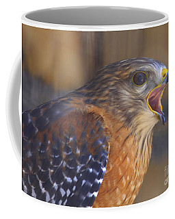 Red Shoulder Hawk Coffee Mug
