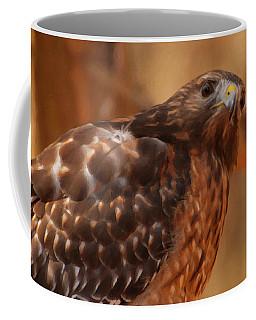 Coffee Mug featuring the digital art Red Shouldered Hawk 1  by Chris Flees