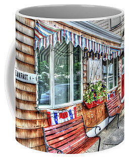 Coffee Mug featuring the photograph Red Skiff by Adrian LaRoque