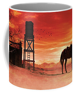Red Sky At Night Cowboy Coffee Mug