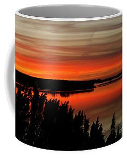 Red Sky On The Illinois River Coffee Mug