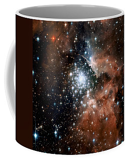Red Smoke Star Cluster Coffee Mug by Jennifer Rondinelli Reilly - Fine Art Photography