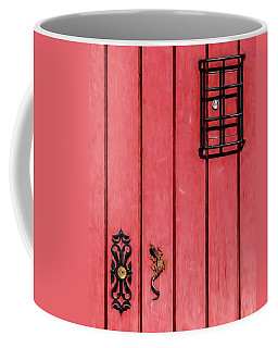 Red Speakeasy Door Coffee Mug