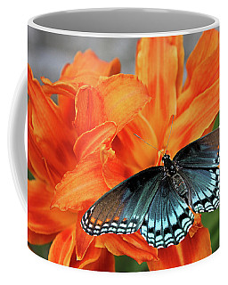 Coffee Mug featuring the photograph Red Spotted Fritillary by Kristin Elmquist