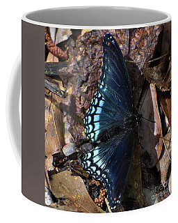 Coffee Mug featuring the photograph Red Spotted Purple Admiral by Skip Willits