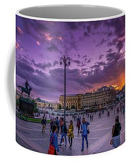 Red Square At Sunset Coffee Mug