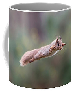 Red Squirrel Leaping Coffee Mug