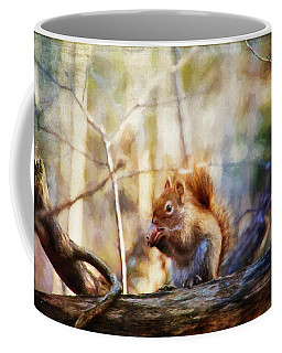 Red Squirrel With Pinecone Coffee Mug