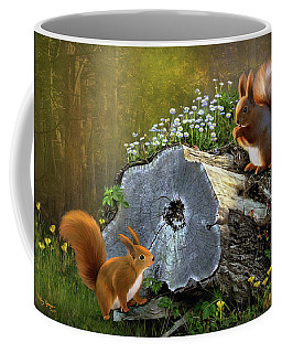 Red Squirrels Coffee Mug by Thanh Thuy Nguyen