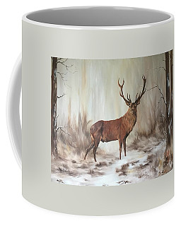 Coffee Mug featuring the painting Red Stag by Jean Walker