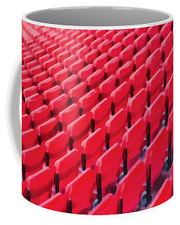 Red Stadium Seats Coffee Mug