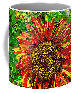 Red Sunflower Coffee Mug
