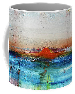 Coffee Mug featuring the painting Red Sunset by Kim Nelson