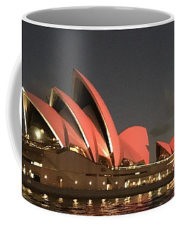 Red Sydney Opera House Coffee Mug
