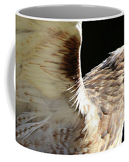 Coffee Mug featuring the photograph Red-tailed Hawk In Profile by William Selander
