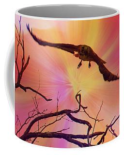 Red-tailed Hawk Launch 2 - Artistic Coffee Mug